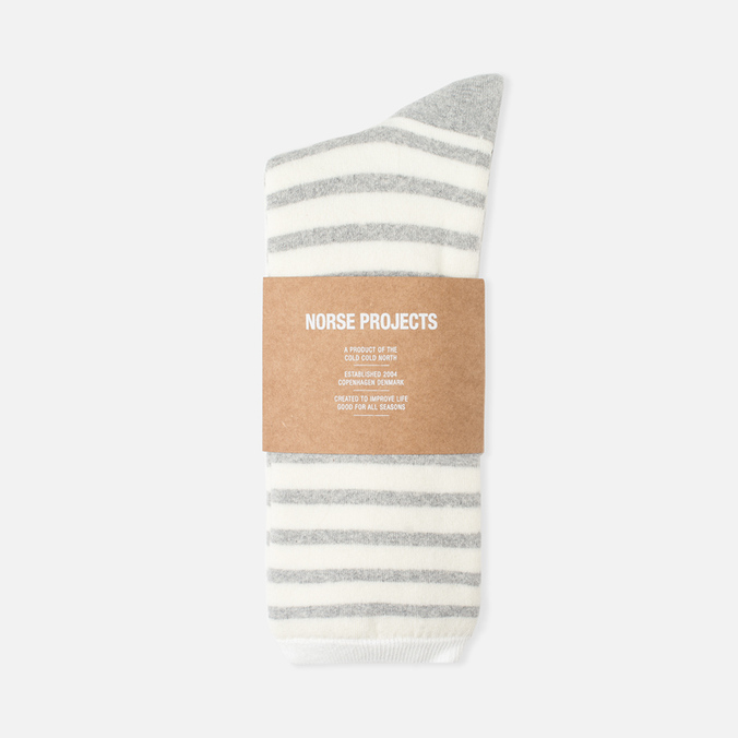 Norse Projects Bjarki Classic Normandy Men's Socks Light Grey Melange