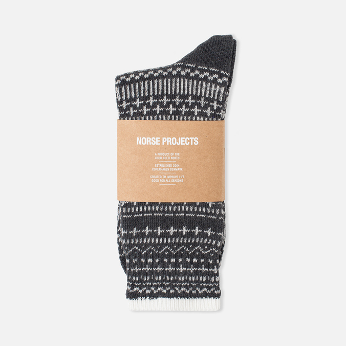 Мужские носки Norse Projects Bjarki Winter Charcoal