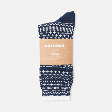 Norse Projects Bjarki Winter Men's Socks Navy