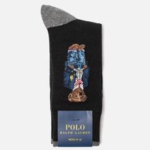 Носки Polo Ralph Lauren Crest And Bears Crew Single Black/Foster Grey фото- 1