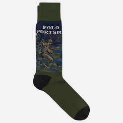 Носки Polo Ralph Lauren Fisherman Crew Single Olive