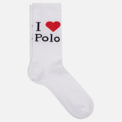 Носки Polo Ralph Lauren I Love Polo Single White