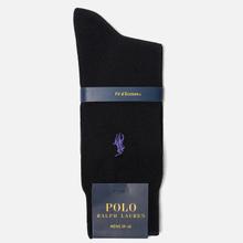 Носки Polo Ralph Lauren Mercerized Cotton Flat Knit Black фото- 1