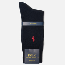 Носки Polo Ralph Lauren Mercerized Cotton Flat Knit Navy фото- 1