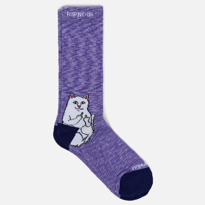 Носки RIPNDIP Lord Nermal Purple Speckle