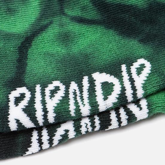 Носки RIPNDIP Pill Mid Green Spiral Tie Dye