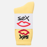 Носки Sex skateboards Sex Logo One Yellow фото- 0