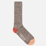 The Hill-Side SX2 Men's Socks Salt & Pepper/Red/Orange photo- 1