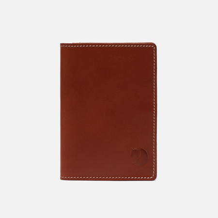 Обложка для паспорта Fjallraven Leather Passport Leather Cognac