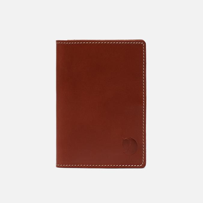 Обложка для паспорта Fjallraven Leather Passport Leather Cognac