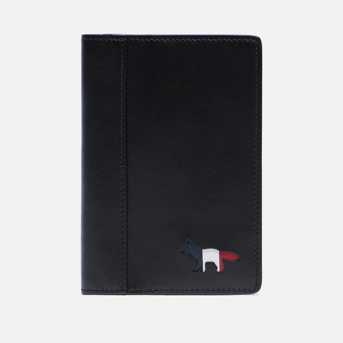 Обложка для паспорта Maison Kitsune Tricolor Black
