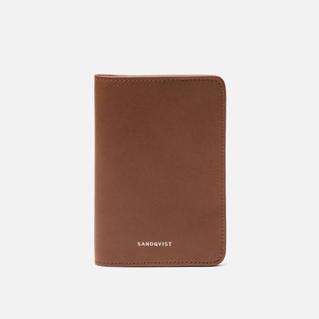 Обложка для паспорта Sandqvist Malte Cognac Brown