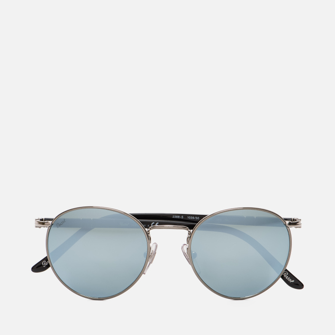 Солнцезащитные очки Persol Metal Suprema Gunmetal/Light Green Mirror Silver