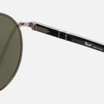 Солнцезащитные очки Persol Metal Suprema Gunmetal/Light Green Mirror Silver фото- 2