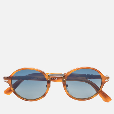 Солнцезащитные очки Persol Polarized Typewriter Edition Suprema Striped Havana/Blue
