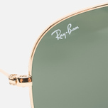 Солнцезащитные очки Ray-Ban Aviator Green Classic/Gold фото- 2