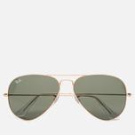 Солнцезащитные очки Ray-Ban Aviator Green Classic/Gold фото- 0