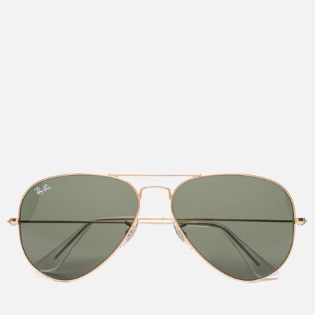 Солнцезащитные очки Ray-Ban Aviator Green Classic/Gold
