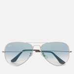Солнцезащитные очки Ray-Ban Aviator Light Blue Gradient/Silver фото- 0