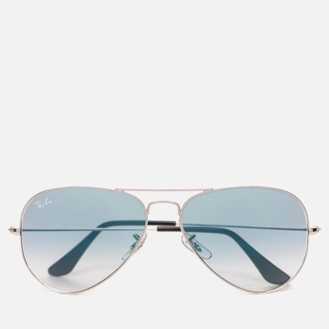 Солнцезащитные очки Ray-Ban Aviator Light Blue Gradient/Silver