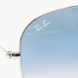 Солнцезащитные очки Ray-Ban Aviator Light Blue Gradient/Silver фото- 2