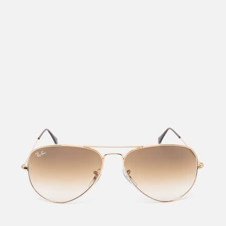 Ray-Ban Aviator Light Sunglasses Brown Gradient/Gold