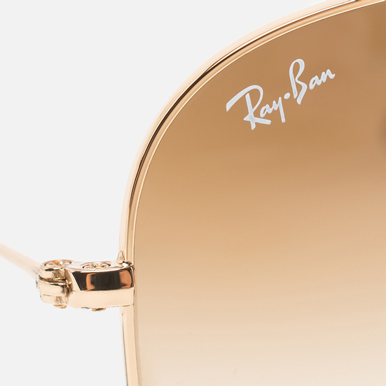 Солнцезащитные очки Ray-Ban Aviator Gradient Polished Gold/Light Brown Gradient