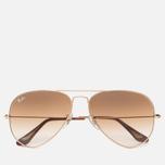 Солнцезащитные очки Ray-Ban Aviator Light Brown Gradient/Gold фото- 0