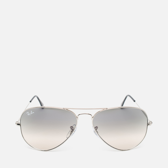 Солнцезащитные очки Ray-Ban Aviator Light Grey Gradient/Silver