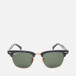 Ray-Ban Clubmaster Aluminum Polarized Sunglasses Green/Black photo- 0