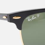Ray-Ban Clubmaster Aluminum Polarized Sunglasses Green/Black photo- 2