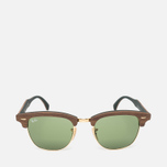 Солнцезащитные очки Ray-Ban Clubmaster Wood Green/Brown фото- 0