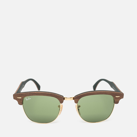 Ray-Ban Clubmaster Wood Sunglasses Green/Brown