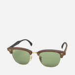Солнцезащитные очки Ray-Ban Clubmaster Wood Green/Brown фото- 1