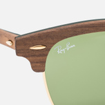 Солнцезащитные очки Ray-Ban Clubmaster Wood Green/Brown фото- 2