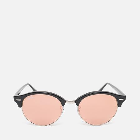Ray-Ban Clubround Copper Flash Sunglasses Black/Silver
