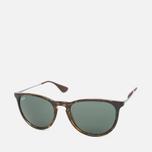 Ray-Ban Erika Green Classic Sunglasses Tortoise/Gunmetal photo- 1