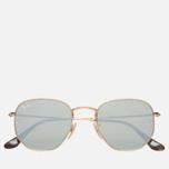 Солнцезащитные очки Ray-Ban Hexagonal Flat Lenses Gold/Silver Flash фото- 0