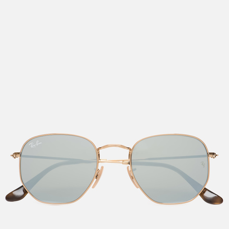 Солнцезащитные очки Ray-Ban Hexagonal Flat Lenses Gold/Silver Flash