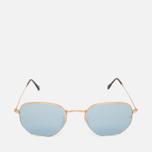 Ray-Ban Hexagonal Flat Lenses Sunglasses Gold/Silver Flash photo- 0