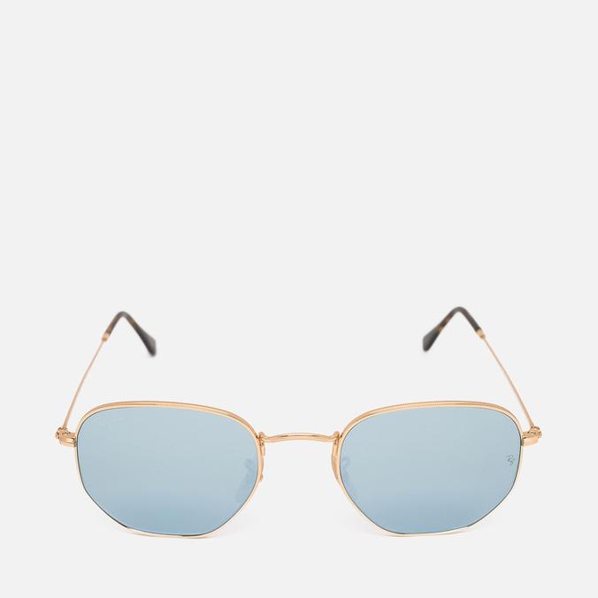 Ray-Ban Hexagonal Flat Lenses Sunglasses Gold/Silver Flash