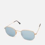 Ray-Ban Hexagonal Flat Lenses Sunglasses Gold/Silver Flash photo- 1