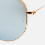 Солнцезащитные очки Ray-Ban Hexagonal Flat Lenses Gold/Silver Flash фото- 2