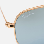 Солнцезащитные очки Ray-Ban Hexagonal Flat Lenses Gold/Silver Flash фото- 3