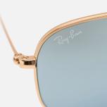 Ray-Ban Hexagonal Flat Lenses Sunglasses Gold/Silver Flash photo- 3