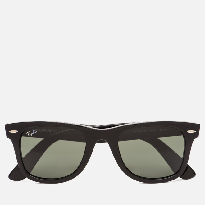 Солнцезащитные очки Ray-Ban Original Wayfarer Classic Polished Black/Black/Polarized Green Classic G-15