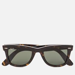Солнцезащитные очки Ray-Ban Original Wayfarer Classic Polished Tortoise/Green Classic G-15