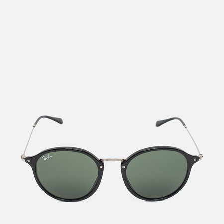 Ray-Ban Round Fleck Classic Sunglasses Green/Black/Silver