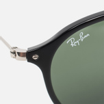 Ray-Ban Round Fleck Classic Sunglasses Green/Black/Silver photo- 2