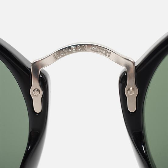 Солнцезащитные очки Ray-Ban Round Fleck Polished Black/Silver/Green Classic G-15